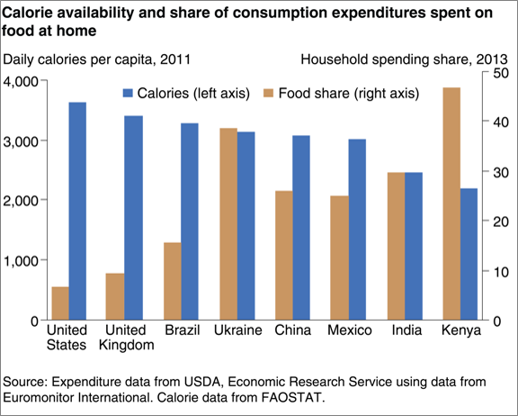 international grocery market expenditures